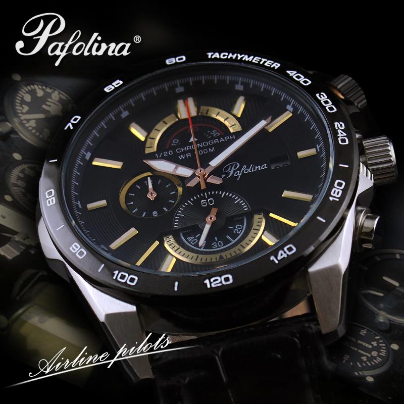 Đồng hồ nam mặt khoáng Pafolina RL-3520