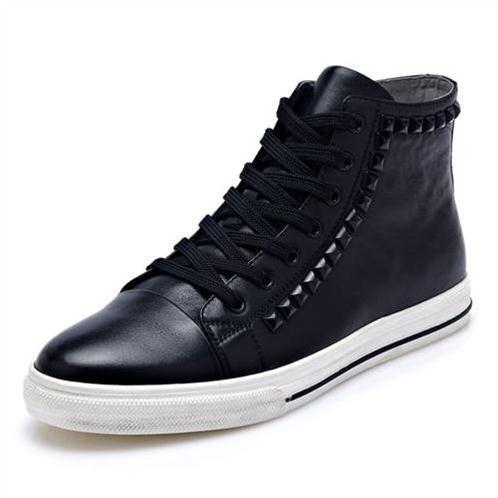 Giày da nam cổ cao CDD 8027 cá tính ấn tượng