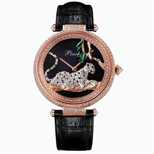Đồng hồ nữ thời trang tráng men hình con báo độc đáo Pinch L9508