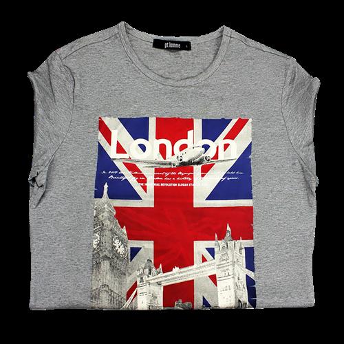 Áo thun dài tay K-Jeans họa tiết cờ Anh Quốc