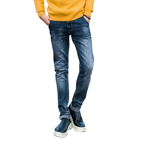 Jeans nam ống côn mài xước No1Dara