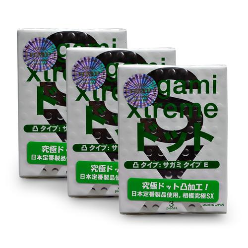Combo 3 hộp Bao cao su Sagami Xtreme White