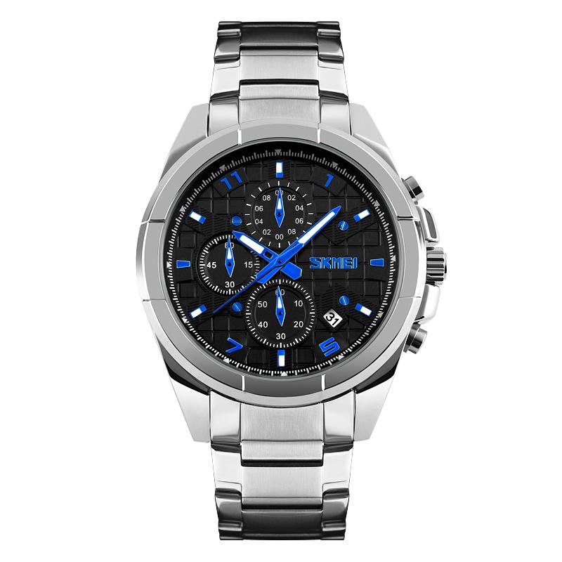 Đồng hồ nam Skmei 6 kim họa tiết caro