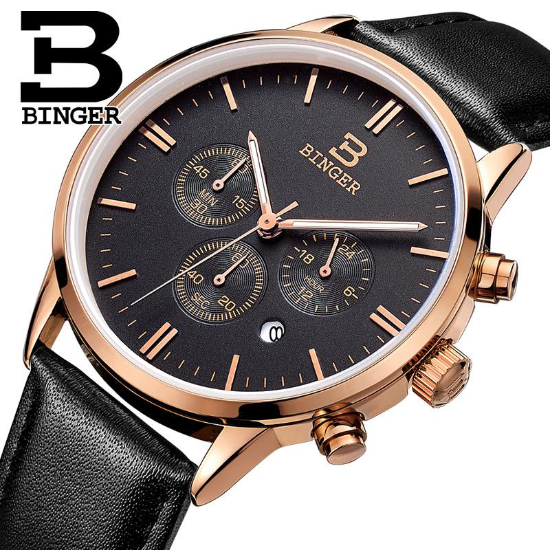 Đồng hồ chronograph nam  Binger style retro