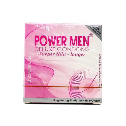 Bao cao su siêu mỏng, chống xuất tinh sớm Power Men