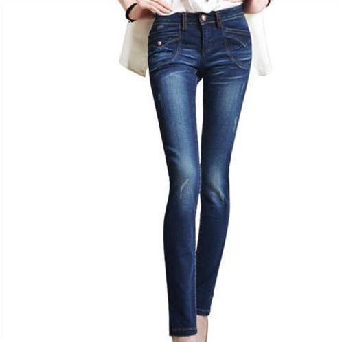 Quần Jeans nữ Bulkish ống côn mài xước