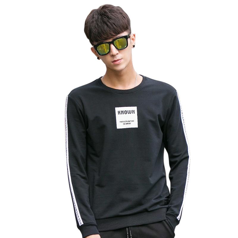 Áo T-shirt nam dài tay No1Dara viền dải chữ