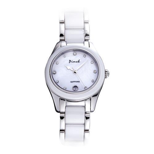 Đồng hồ nữ thời trang dây đeo chất liệu caremic hoa lệ Pinch L616