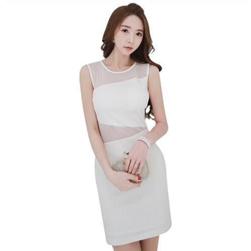 Váy liền gợi cảm phong cách Hàn Quốc