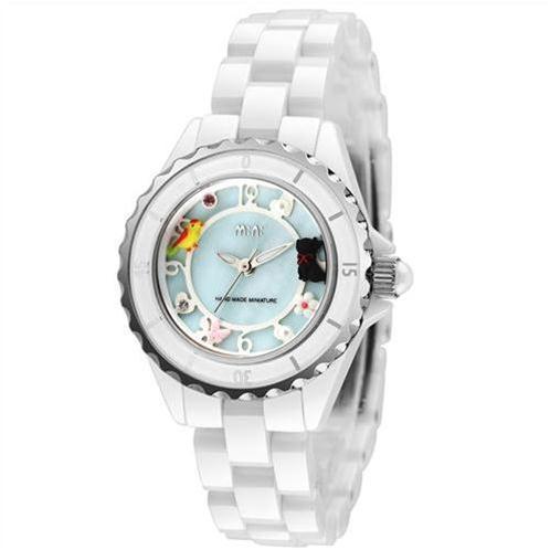 Đồng hồ nữ Mini MN1095 dây gốm