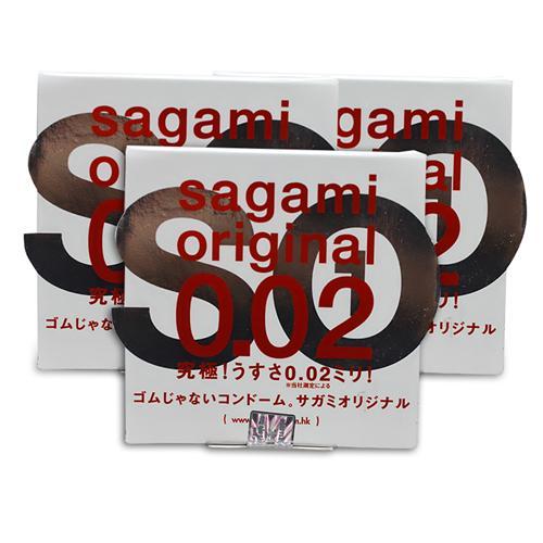 Combo 3 hộp Bao cao su Sagami Original 0.02