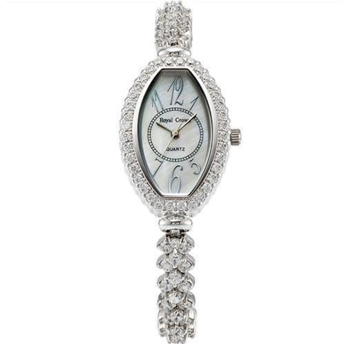 Đồng hồ nữ gắn đá pha lê Royal Crown