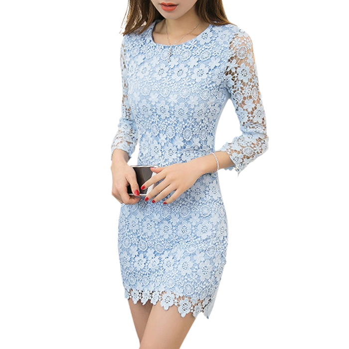 Váy liền ren hoa ôm body Qicnok