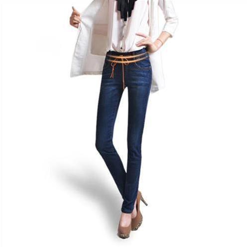 Jeans nữ ống côn cạp chun thắt dây Bulkish