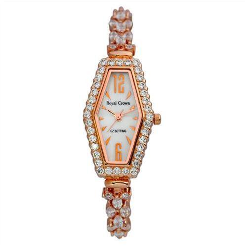 Đồng hồ nữ Royal Crown 3810 mặt lục giác độc đáo