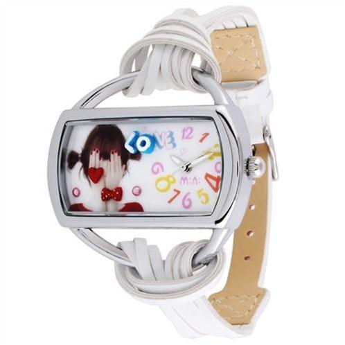 Đồng hồ nữ mini MN950 Mặt chữ nhật ngộ nghĩnh
