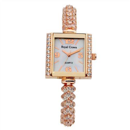 Đồng hồ lắc tay nữ Royal Crown mặt vuông gắn đá