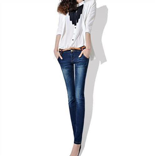 Skinny Jeans nữ Bulkish mài vân sóng