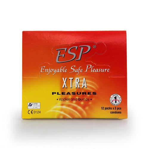 Combo 12 hộp Bao cao su gân gai ESP Extra Pleasure