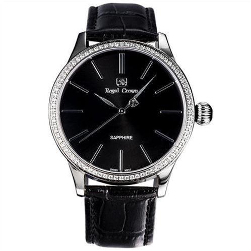 Đồng hồ nam Royal Crown 6118 mặt đính pha lê