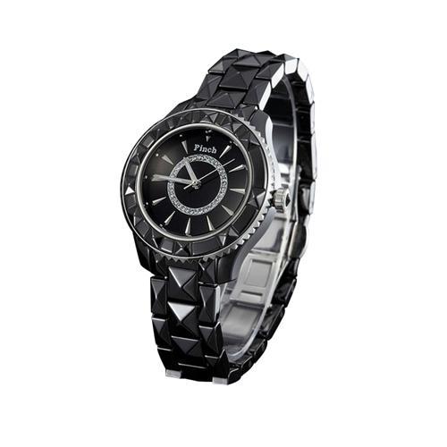 Đồng hồ nữ thời trang cá tính Pinch 6001 Viền ceramic lập thể ấn tượng