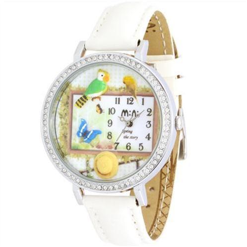 Đồng hồ nữ Mini MN1081 Hoa cỏ mùa xuân tươi mới