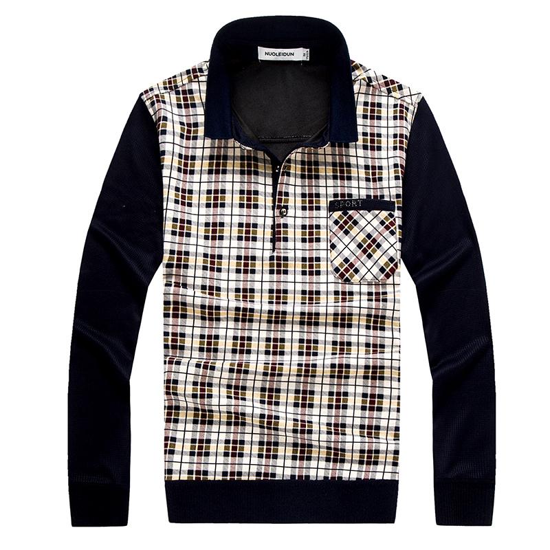 Áo Tshirt nam Nleidun kẻ ô thời trang