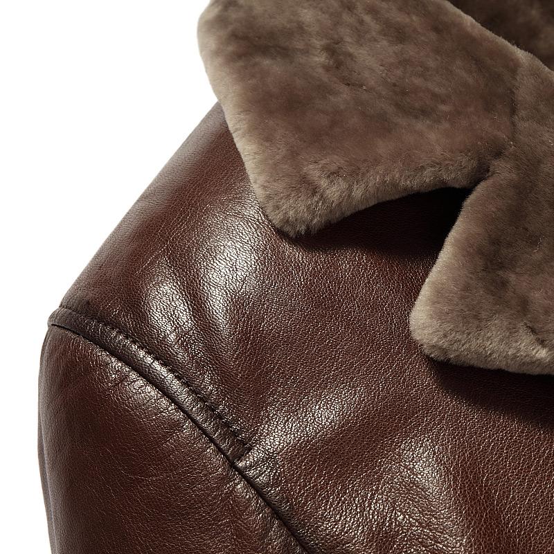 Áo khoác da cừu lông cừu cao cấp NNA