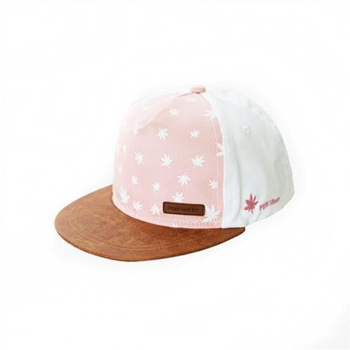 Mũ bóng chày họa tiết lá phong Pink Sheep