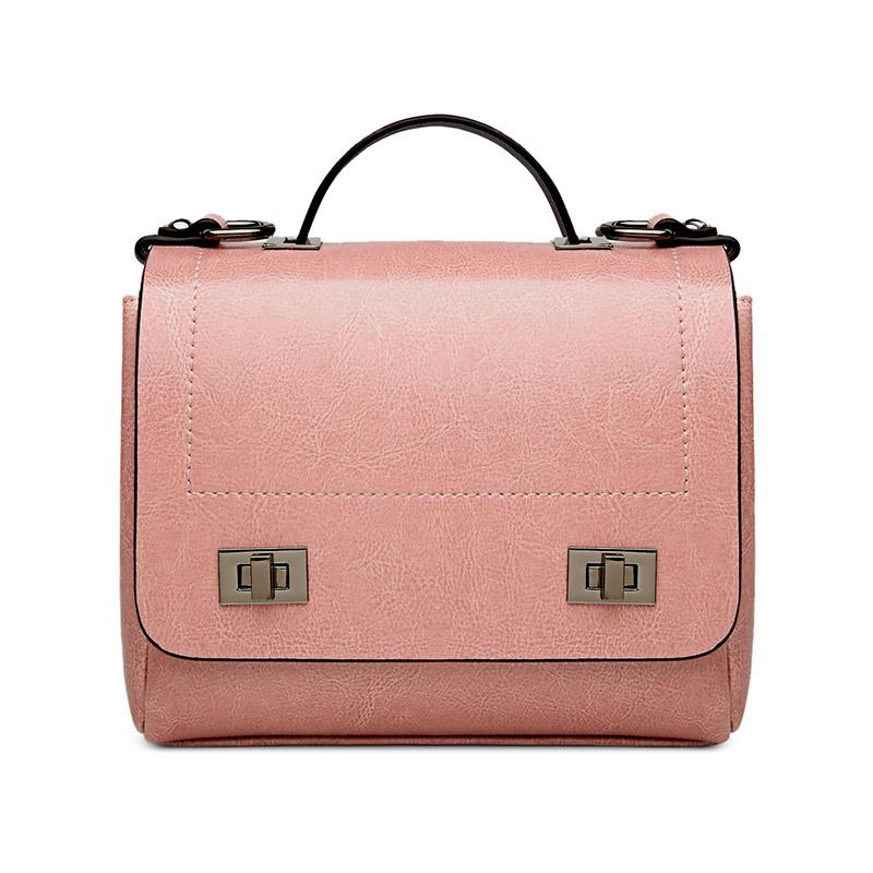 Túi xách Top-Handle khóa xoay Jianti style Vintage