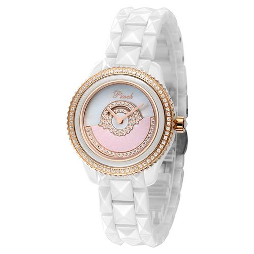Đồng hồ nữ thời trang Pinch L0319 Hình quạt họa tiết lông vũ ấn tượng