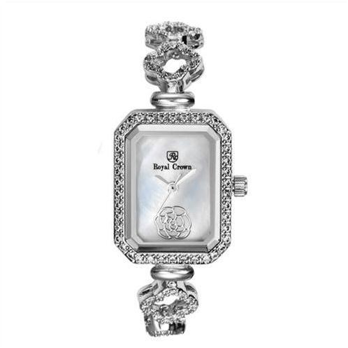 Đồng hồ nữ Royal Crown 9258 Dây đeo hình cánh hoa đính đá