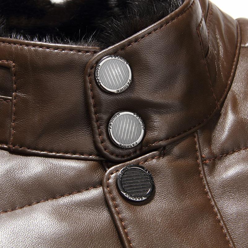 Áo khoác phao da cừu tự nhiên cổ lông kéo khóa WDD