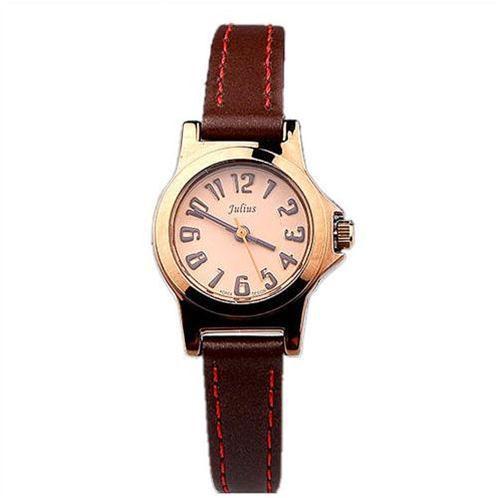 Đồng hồ nữ dây da mảnh Julius JA-697
