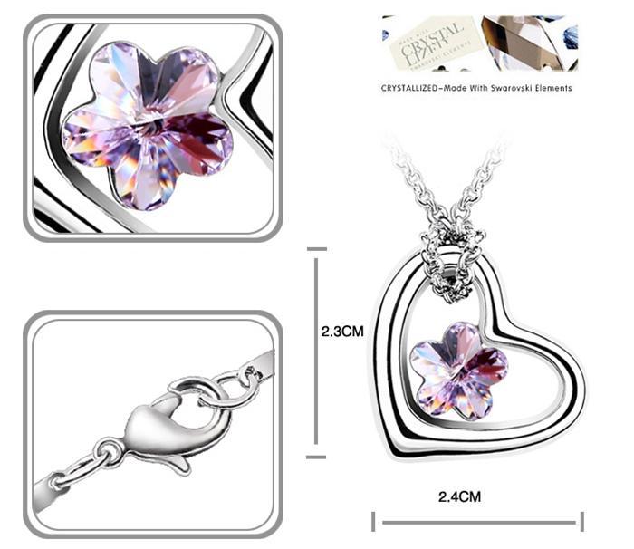 baza.vn:dây chuyền trái tim mùa xuân