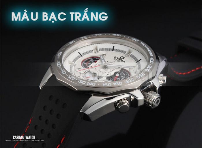 Đồng hồ nam Casima ST8206 màu bạc trắng