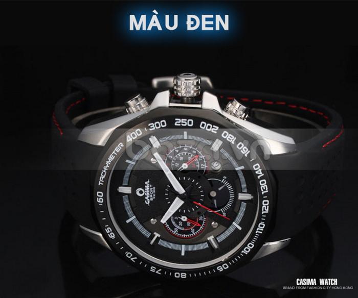 Đồng hồ nam Casima ST8206 màu đen