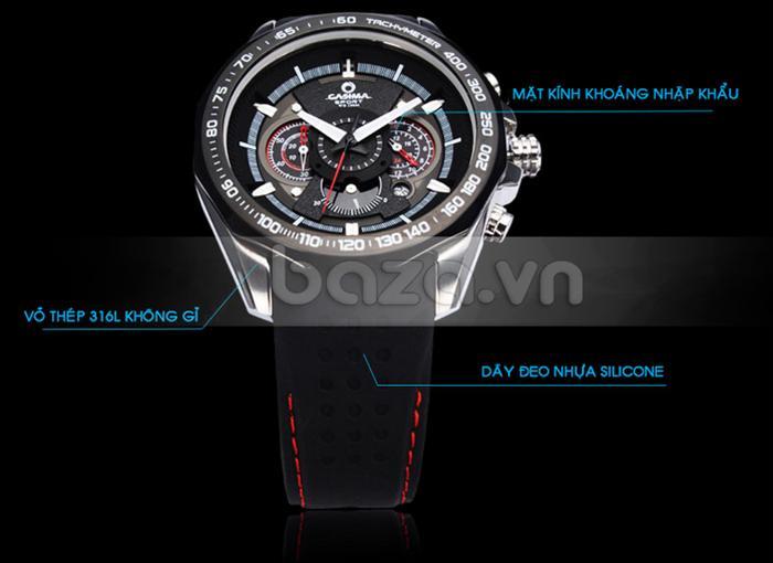 Đồng hồ nam Casima ST8206 viền vỏ thép 316L